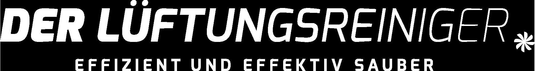 Der Lüftungsreiniger: Logo Weiss